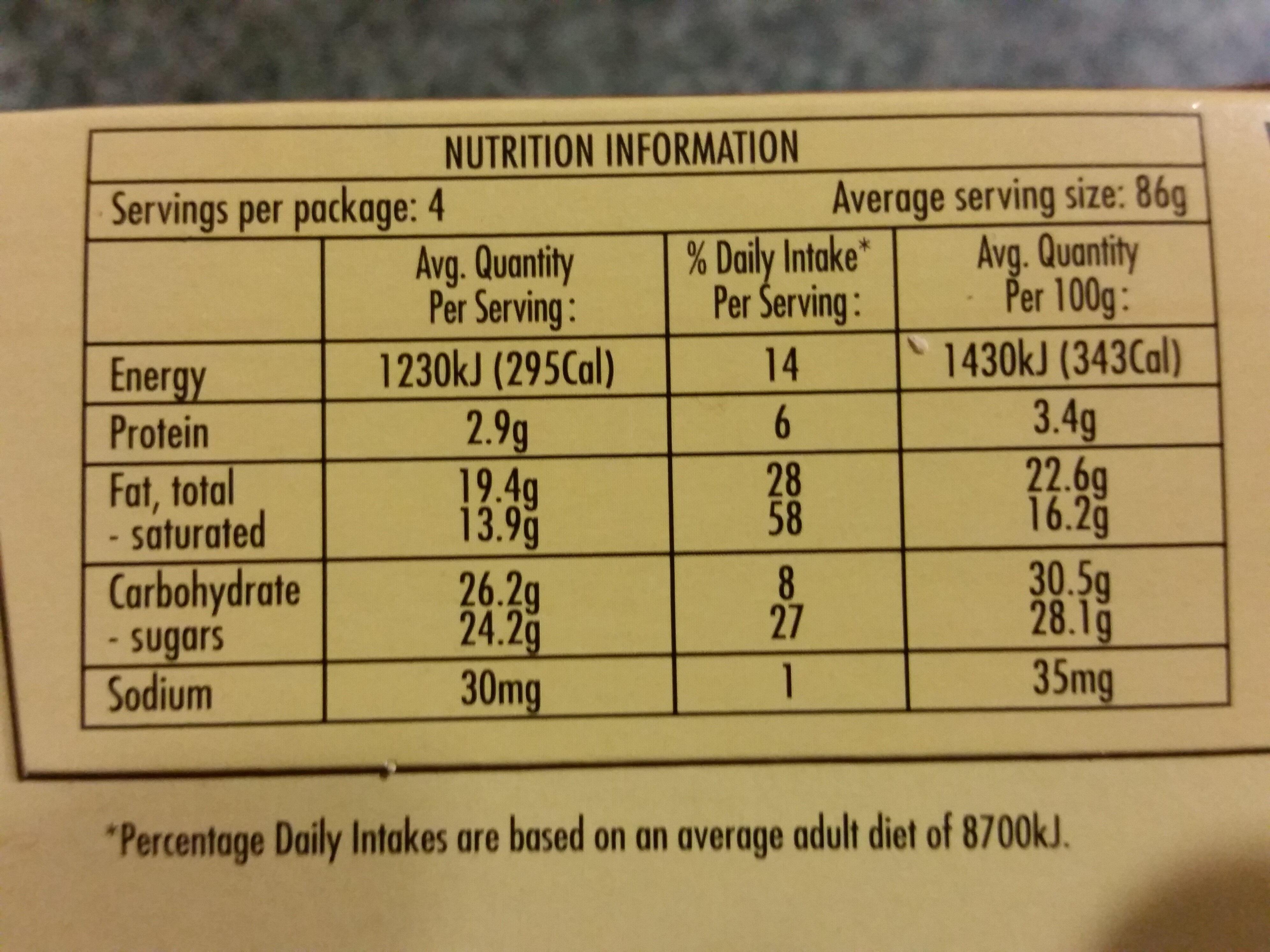 Magnum Ego Double Caramel - Nutrition facts - en
