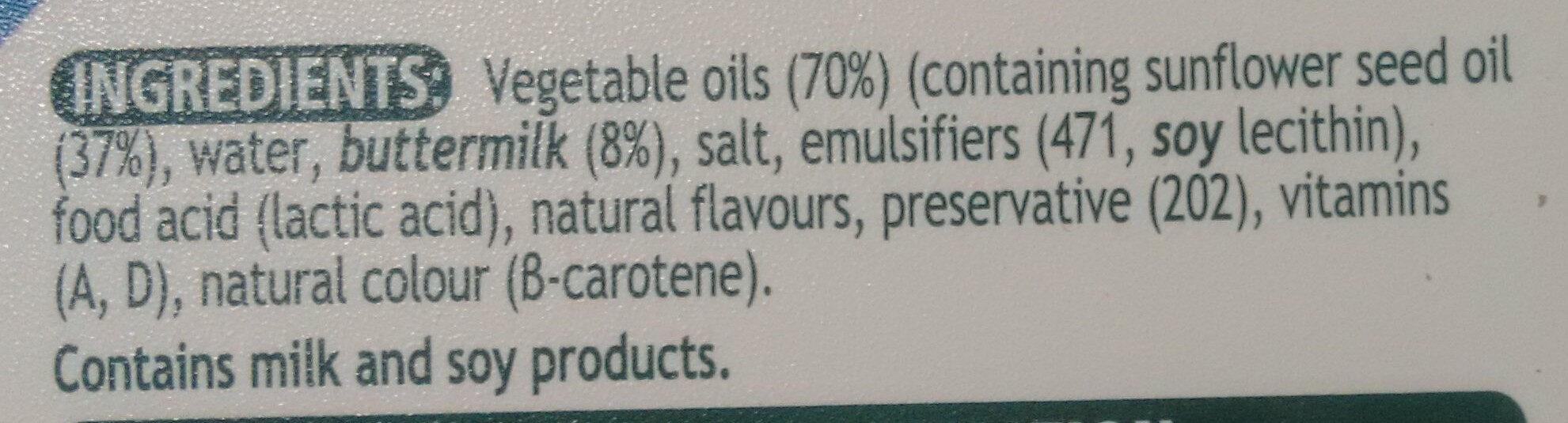 Flora Buttery - Ingredients - en