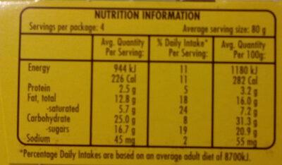 Golden Gaytime Coco Pops Ice Cream - Nutrition facts - en
