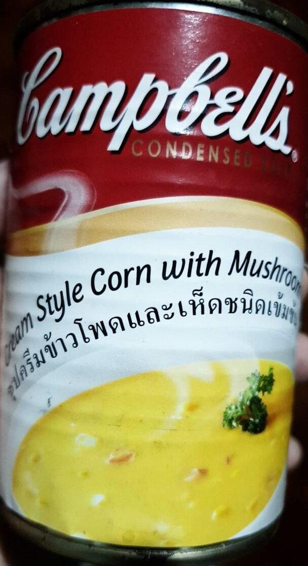 ซุปครีมข้าวโพดและเห็ด - Produit