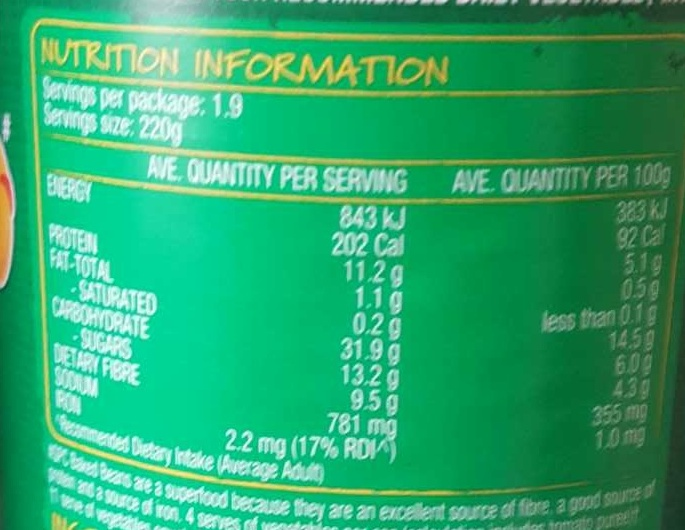 SPC Baked Beans - Nutrition facts - en