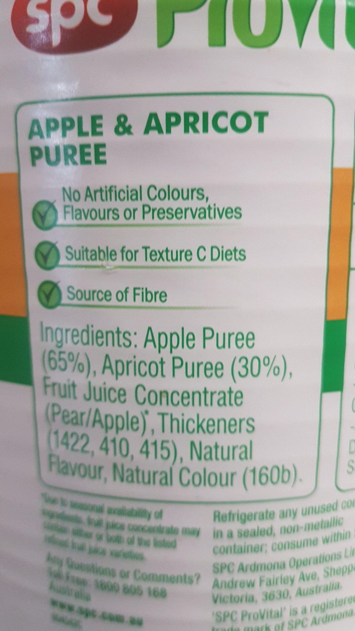 Apple and Apricot Puree - Ingredients - en