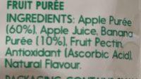 Purée & simple (apple & banana) - Ingrediënten
