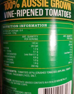 Crushed Tomatoes - Ingredients - en