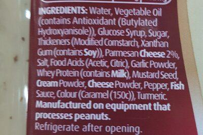 caesar salad dressing - Ingredients - en