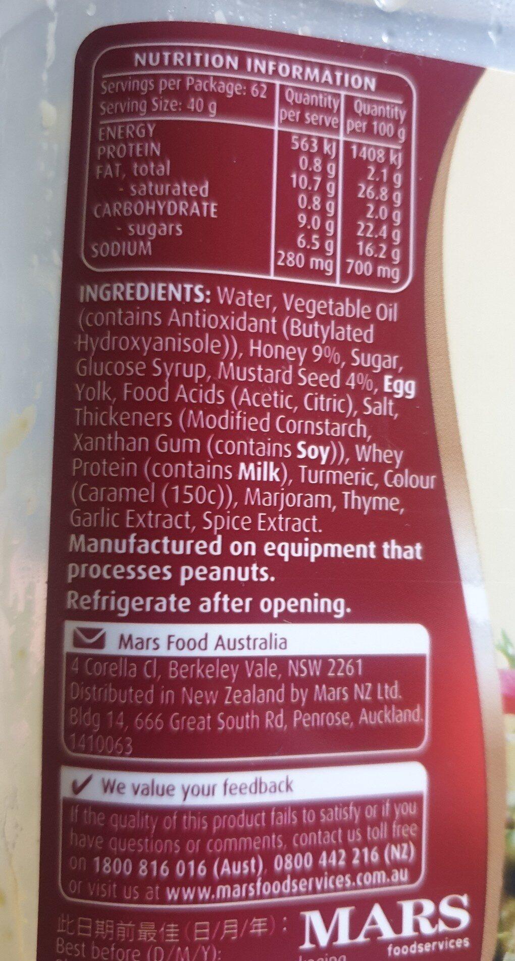 Honey mustard - Ingredients - en