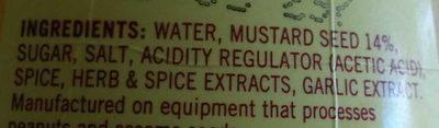 Mild American Mustard - Ingredients - en