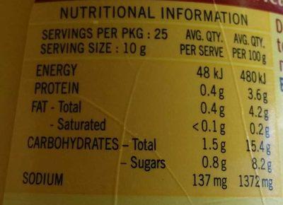 Mild American Mustard - Nutrition facts - en