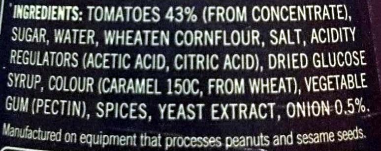 Barbeque Sauce - Ingredients
