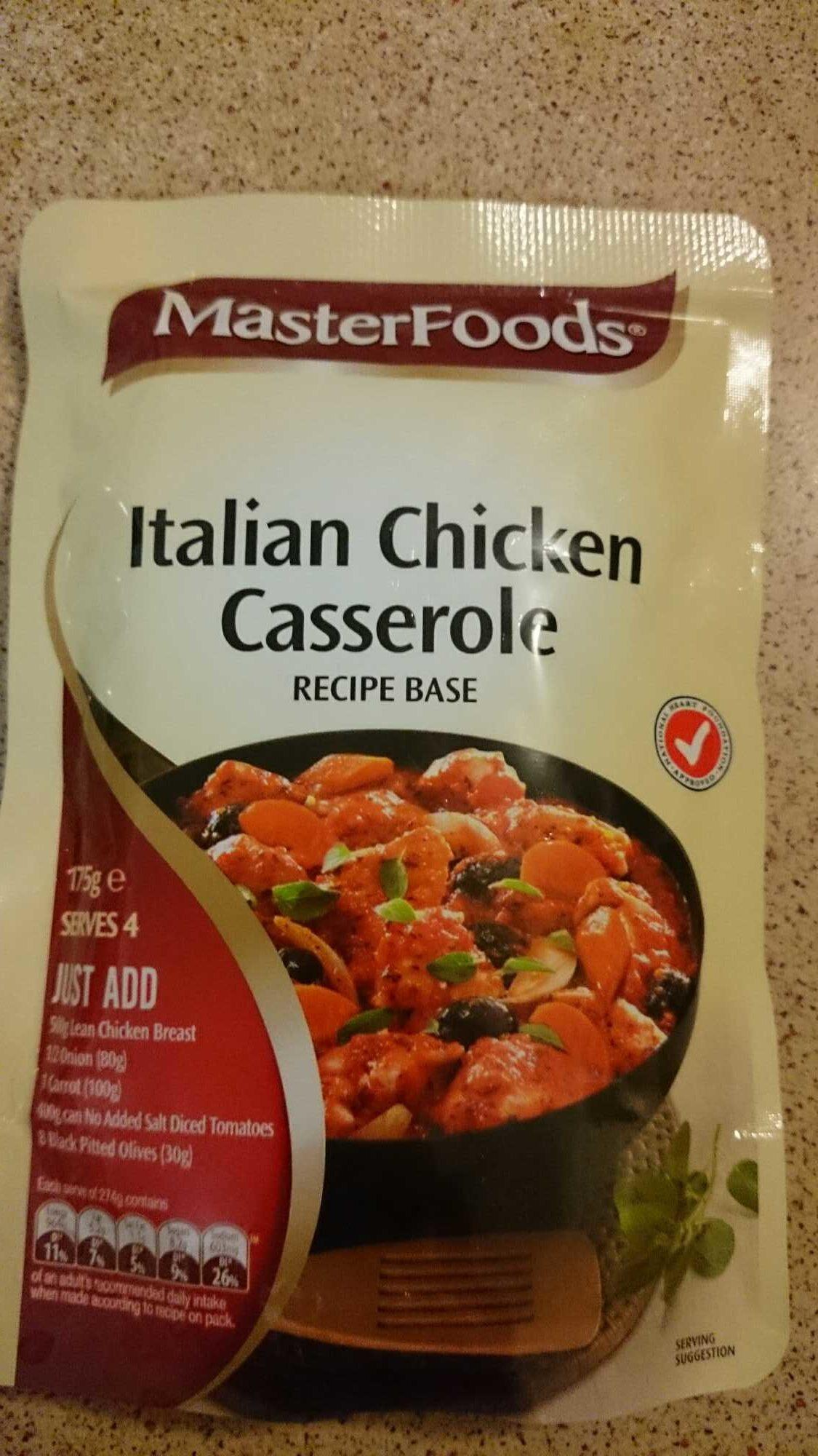 Italian Chicken Casserole Recipe Base - Product - en