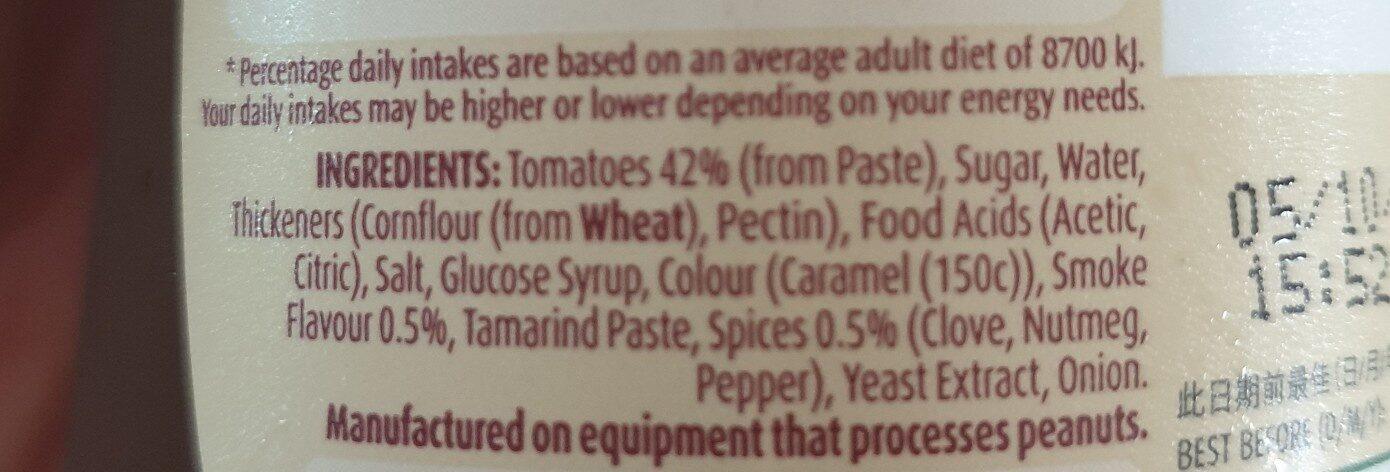 bbq sauce - Ingredients - en