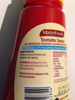 MasterFoods Reduced Salt Tomato Sauce - Ingredients - en