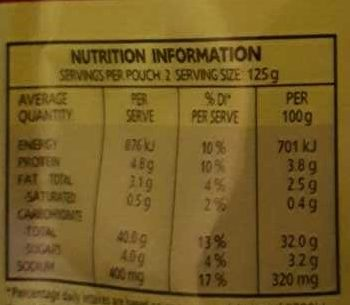 Mexican Style Brown Rice - Nutrition facts
