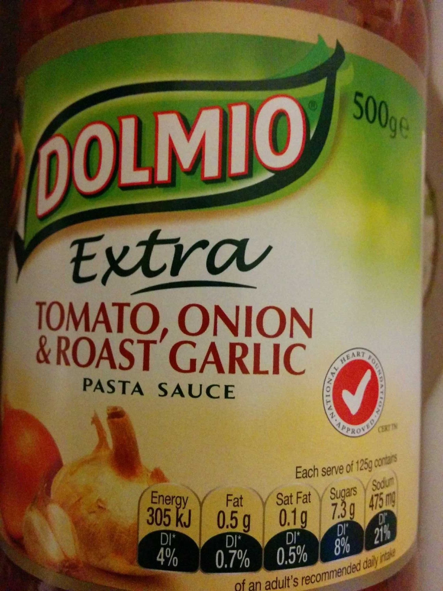 Tomato, onion and roast garlic Pasta Sauce - Dolmio - 500g