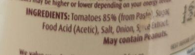 MasterFoods Tomato sauce - Ingredients - en
