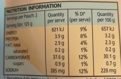 Sriracha Rice - Nutrition facts - en