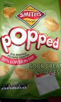 Popped Air Popped Potato Snacks Sour Cream & Chives - Product - en
