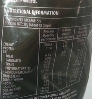 Honey soy chicken chips - Nutrition facts