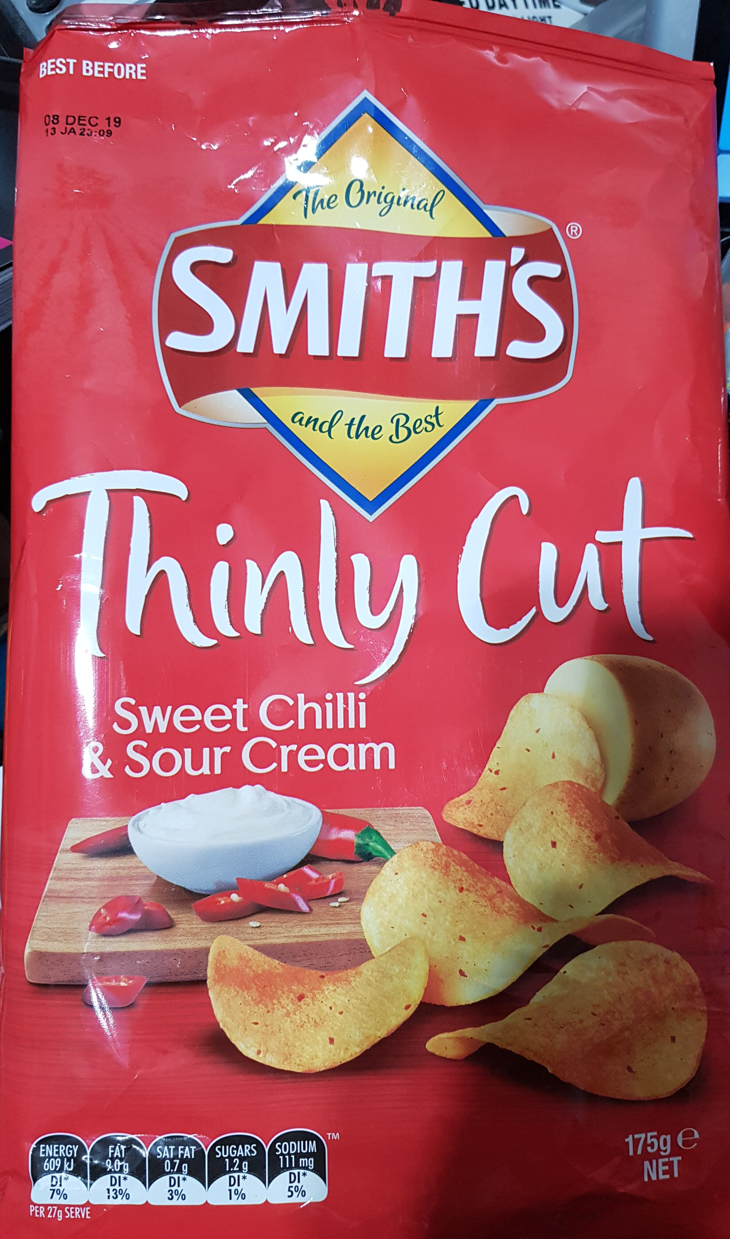 Thinly Cut Sweet Chilli & Sour Cream Potato Chips - Product