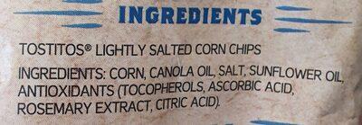tostitos - Ingredients - en
