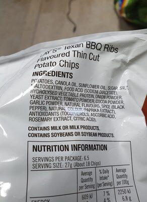 lays - Ingredients - en