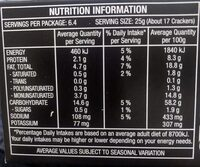Crackers Southern Fried Chicken - Nutrition facts - en