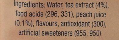 Ice tea light - Ingredients - fr