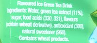 Lipton Original Ice Green Tea - Ingredients - en