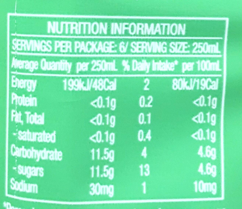 Lipton Original Ice Green Tea - Nutrition facts - en