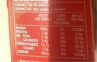Crackers - Nutrition facts - en