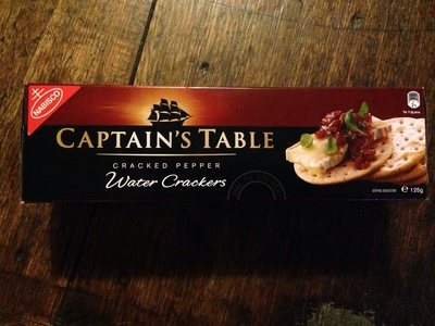 Captain's Table Cracked Pepper Water Crackers - Product