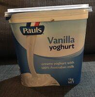 Vanilla yoghurt - Product