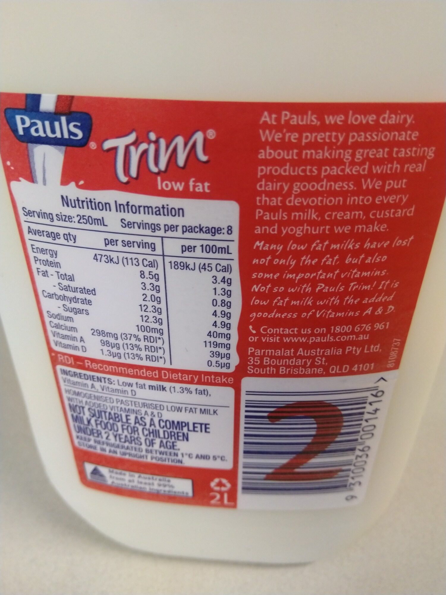 Pauls Trim Milk - Ingredients - en