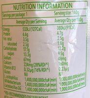 Kids banana - Informação nutricional - en