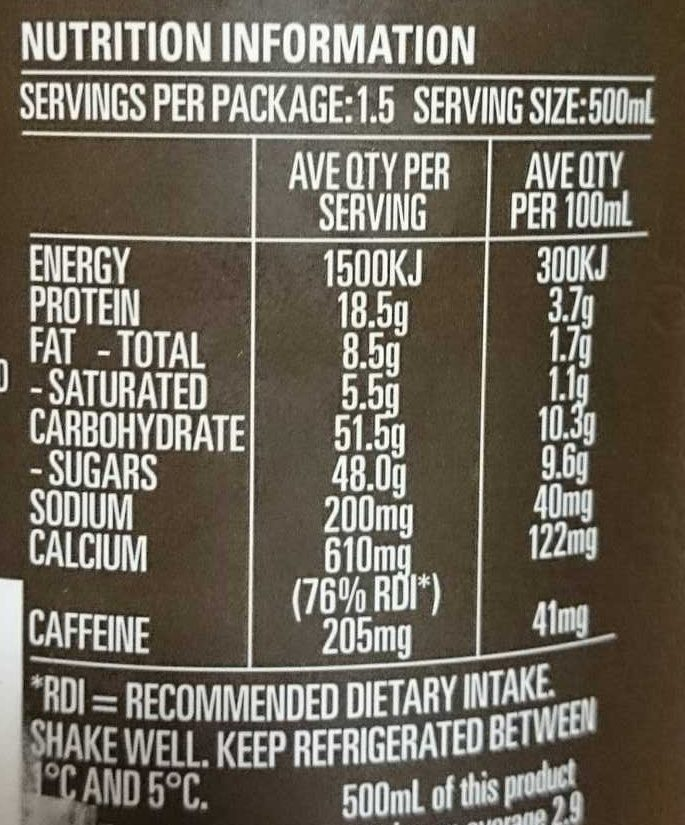 Real Coffee Ice Break Extra Shot - Informations nutritionnelles - fr