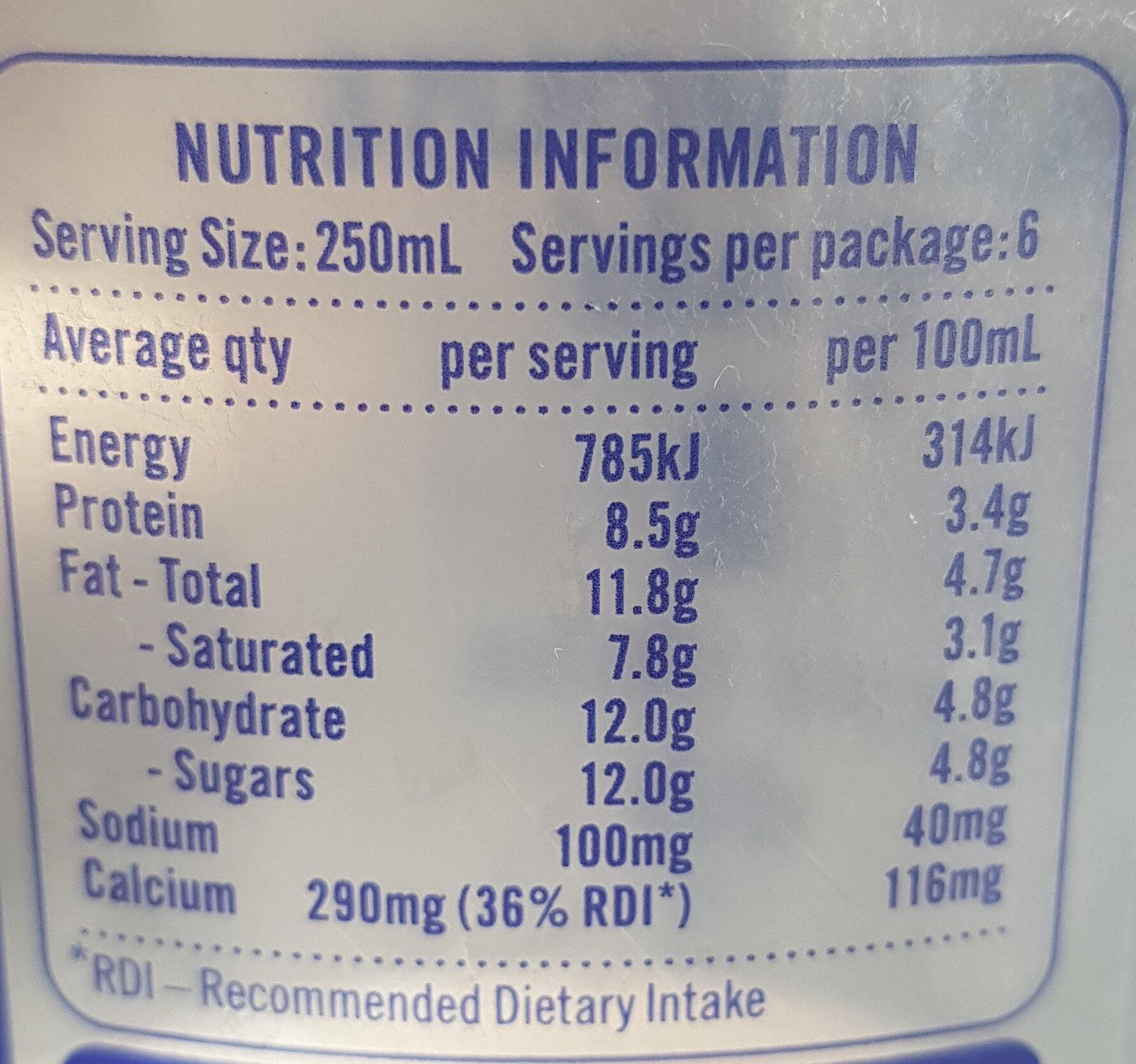Farmhouse gold full cream - Nutrition facts - en