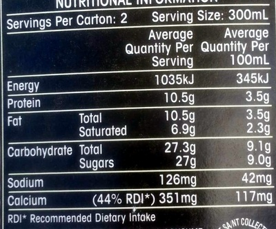 OAK Cookies & Cream - Nutrition facts - en