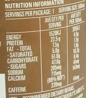 Ice Break Refuel High Protein - Nutrition facts - en