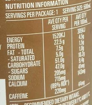 Ice Break Refuel High Protein - Nutrition facts