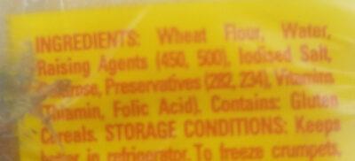 6 Crumpets - Ingredients - en