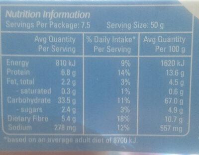 Krummies - Nutrition facts - en