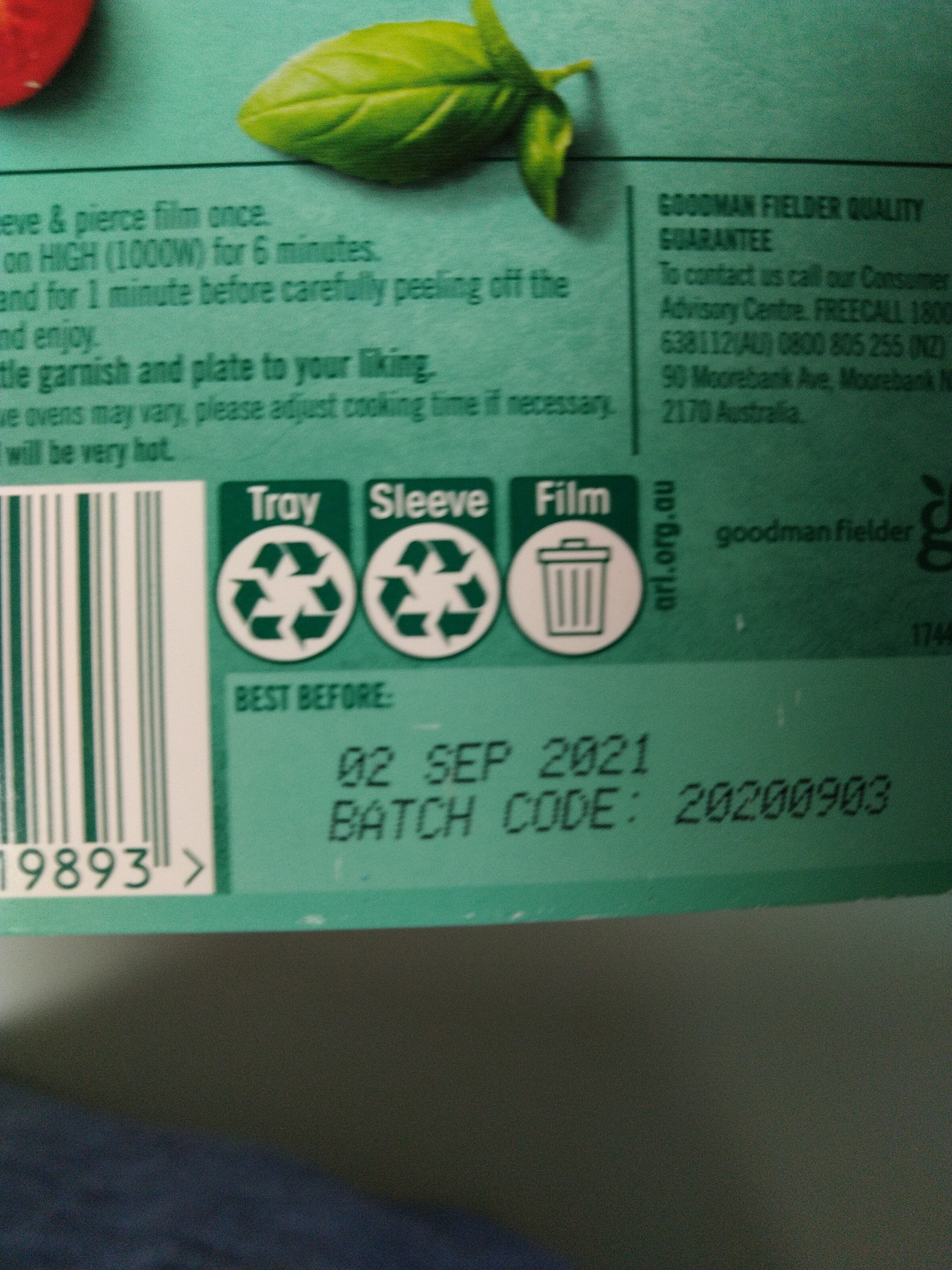 Spaghetti Bolognese - Recycling instructions and/or packaging information - en