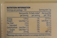 Spreadable - Nutrition facts - en