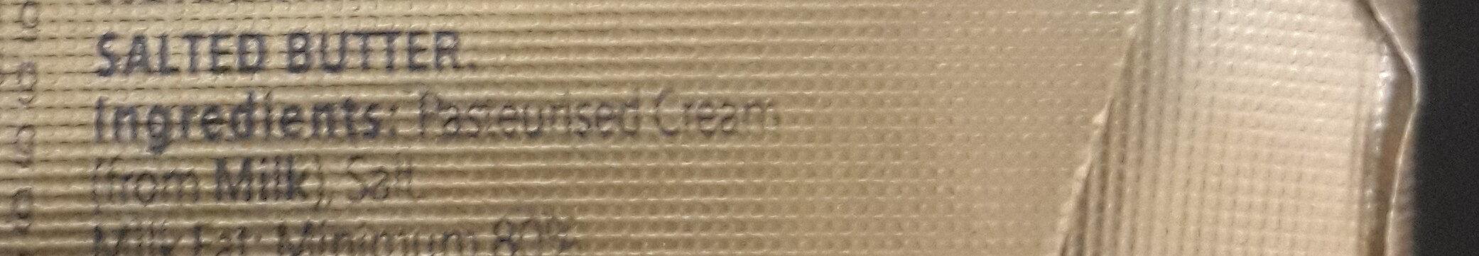 Original Salted Butter - Ingrédients - en