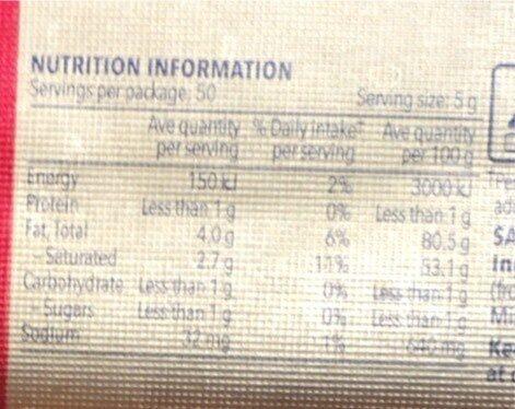 Original Salted Butter - Voedingswaarden - en
