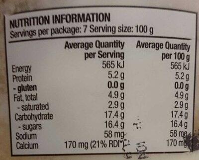 Greek style yogurt apple & pear - Nutrition facts - en