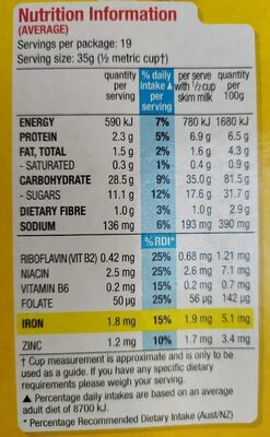 Kellogg's Crunchy Nut Corn Flakes 670G - Nutrition facts