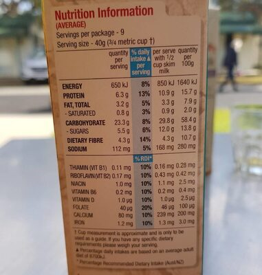 Special K Nourrish - Nutrition facts