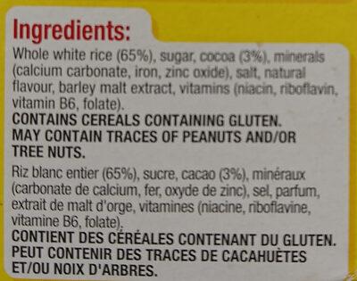 Coco Pops - Ingredients - en