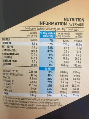 Nutri grain - Ingredients